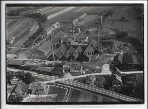 ZZ-3704/ Schorndorf Ziegelwerke G.Gross Foto seltenes Luftbild 1934 18 x 13 cm