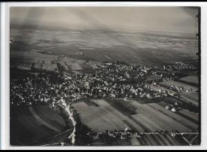 ZZ-3293/ Langenau seltenes Foto Luftbild ca.1938 18 x 13 cm