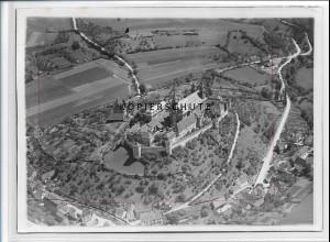 ZZ-3301/ Comburg b. Schwäbisch Hall Foto seltenes Luftbild 1935 18 x 13 cm
