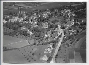ZZ-3323/ Aufhofen bei Biberach Foto seltenes Luftbild 1938 18 x 13 cm