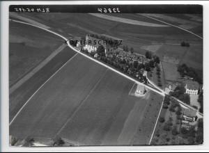 ZZ-3324/ Aufhofen bei Biberach Foto seltenes Luftbild 1938 18 x 13 cm