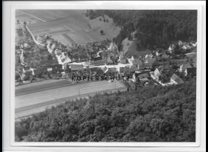 ZZ-3326/ Schmiechen b. Schelklingen Foto seltenes Luftbild 1937 18 x 13 cm