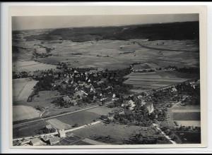 ZZ-3328/ Satteldorf bei Crailsheim Foto seltenes Luftbild ca.1938 18 x 13 cm