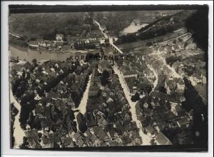 ZZ-3340/ Nürtingen Foto seltenes Luftbild ca.1938 18 x 13 cm
