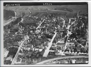 ZZ-3345/ Münsingen Foto seltenes Luftbild 1938 18 x 13 cm