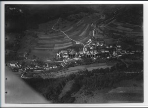 ZZ-3350/ Margrethausen Albstadt Foto seltenes Luftbild 1938 18 x 13 cm