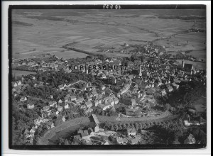 ZZ-3354/ Crailsheim Foto seltenes Luftbild 1934 18 x 13 cm