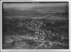 ZZ-3355/ Heimderingen b. Ditzingen Foto seltenes Luftbild ca.1935 18 x 13 cm