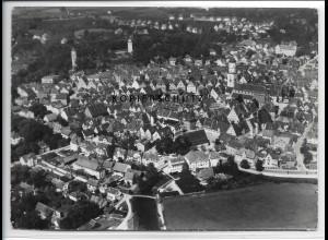 ZZ-3359/ Biberach Foto seltenes Luftbild 1937 18 x 13 cm