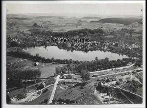 ZZ-3363/ Waldsee Foto seltenes Luftbild 1938 18 x 13 cm