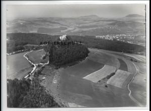 ZZ-3367/ Ruine Scharfenberg Foto seltenes Luftbild 1937 18 x 13 cm