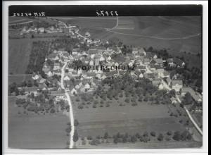 ZZ-3321/ Emerkingen Foto seltenes Luftbild 1938 18 x 13 cm