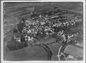 ZZ-3319/ Dellmensingen b. Erbach Foto seltenes Luftbild 1937 18 x 13 cm