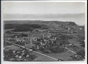 ZZ-3320/ Eriskirch Foto seltenes Luftbild 1935 18 x 13 cm