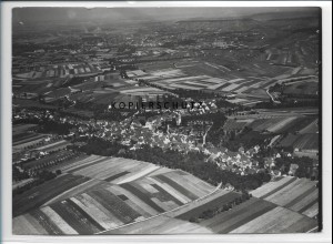 ZZ-3316/ Flein bei Heilbronn Foto seltenes Luftbild 1936 18 x 13 cm