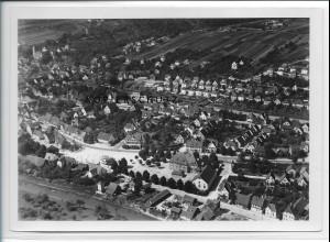 ZZ-3317/ Ebersbach a.d. Fils Foto seltenes Luftbild 1936 18 x 13 cm