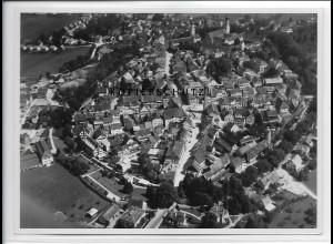 ZZ-3376/ Isny Foto seltenes Luftbild 1937 18 x 13 cm