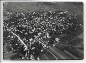 ZZ-3382/ Laichingen Foto seltenes Luftbild 1937 18 x 13 cm