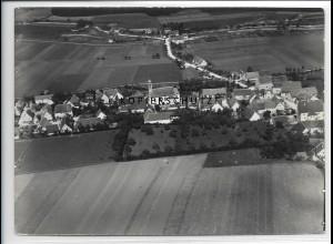 ZZ-3395/ Ballmertshofen b. Dischingen Foto seltenes Luftbild 1936 18 x 13 cm