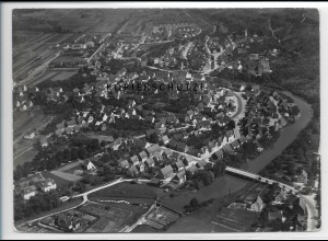 ZZ-3420/ Uhingen bei Göppingen Foto seltenes Luftbild 1936 18 x 13 cm