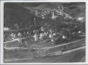 ZZ-3447/ Herrlingen Foto seltenes Luftbild 1936 18 x 13 cm