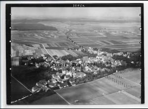 ZZ-3450/ Bermaringen b. Blaustein Foto seltenes Luftbild ca.1936 18 x 13 cm