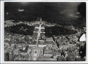 ZZ-3472/ Karlsruhe Foto seltenes Luftbild 1935 18 x 13 cm