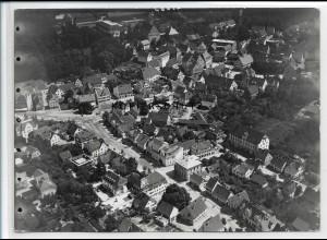 ZZ-5251/ Laupheim Foto seltenes Luftbild 18 x 13 cm 1938