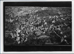 ZZ-3489/ Stein bei Pforzheim Foto seltenes Luftbild ca. 1938 18 x 13 cm