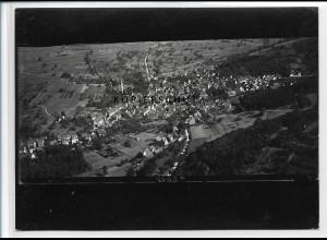 ZZ-3490/ Stein bei Pforzheim Foto seltenes Luftbild ca. 1938 18 x 13 cm