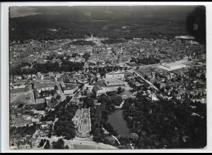 ZZ-3742/ Karlsruhe Foto seltenes Luftbild 1939 18 x 13 cm