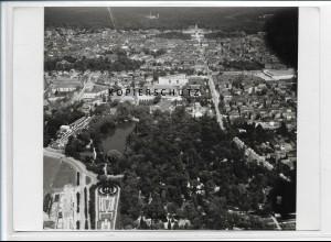 ZZ-3743/ Karlsruhe Foto seltenes Luftbild 1935 18 x 13 cm