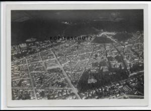 ZZ-3745/ Karlsruhe Foto seltenes Luftbild 1935 18 x 13 cm