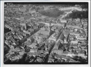 ZZ-3746/ Karlsruhe Foto seltenes Luftbild 1935 18 x 13 cm