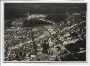 ZZ-3748/ Karlsruhe Foto seltenes Luftbild 1935 17 x 12,5 cm