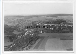 ZZ-5254/ Bartenstein bei Schrozberg Foto seltenes Luftbild 18 x 13 cm 1934