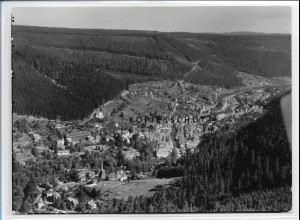 ZZ-3797/ Wildbad Foto seltenes Luftbild 1936 18 x 13 cm