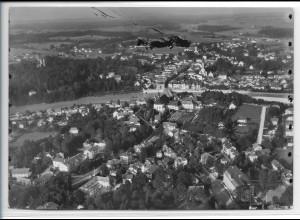 ZZ-5198/ Bad Tölz Foto seltenes Luftbild 18 x 13 cm ca.1938