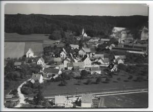 ZZ-3824/ Untereichen - Altenstadt Foto seltenes Luftbild 1936 18 x 13 cm