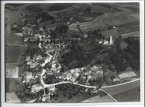 ZZ-3826/ Eugenbach Altdorf b. Landshut Foto seltenes Luftbild ca.1936 18 x 13 cm