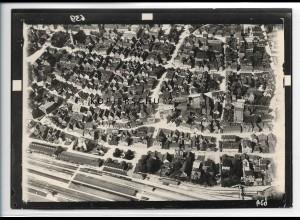 ZZ-5499/ Göppingen mit Bahnhof seltenes Foto Luftbild 18 x 13 cm