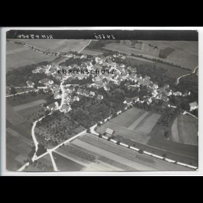ZZ-5103/ Aufhausen Foto seltenes Luftbild 1938 18 x 13 cm