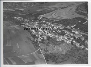 ZZ-5109/ Deggingen Foto seltenes Luftbild 1938 18 x 13 cm