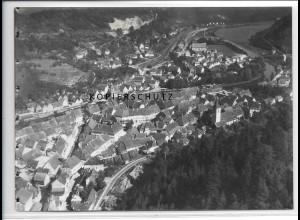 ZZ-3674/ Sulz am N. Foto seltenes Luftbild ca.1935 18 x 13 cm