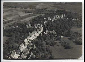 ZZ-3676/ Sigmarswangen bei Sulz a.N. Foto seltenes Luftbild 1936 18 x 13 cm