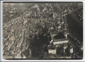 ZZ-5124/ Tübingen Foto seltenes Luftbild ca. 1935 18 x 13 cm