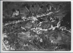 ZZ-3689/ Seeburg bei Bad Urach Foto seltenes Luftbild 1938 18 x 13 cm
