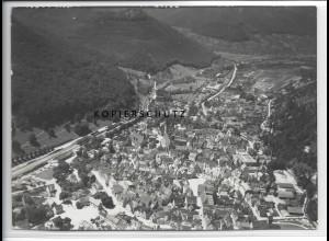 ZZ-3690/ Bad Urach Foto seltenes Luftbild 1938 18 x 13 cm