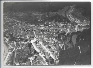 ZZ-3691/ Bad Urach Foto seltenes Luftbild 1938 18 x 13 cm
