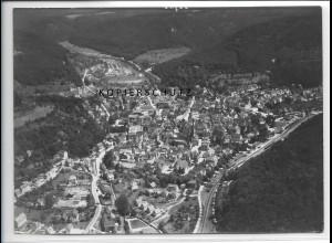 ZZ-3692/ Bad Urach Foto seltenes Luftbild 1938 18 x 13 cm